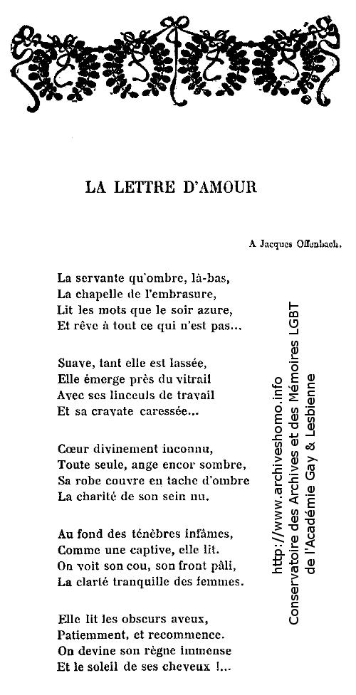 Akademos N 1 15 Janvier 1909 La Lettre Damour